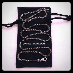 "David Yurman 22"" Titanium Box Chain Necklace"